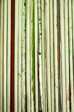 Abstract striped background. Wooden art tablets for drawing covered with paper stock photo