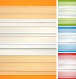 Abstract striped backgrounds set Royalty Free Stock Images
