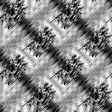 Abstract striped black and white 3d seamless pattern. Vector gru. Nge background. Modern ornaments with diagonal stripes, patches, lines, spots, shapes, figures Royalty Free Stock Images
