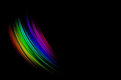 Abstract striped blur gradient with place for text. On black background Stock Photo