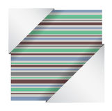Abstract striped card Royalty Free Stock Photo