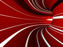 Abstract striped 3d the image Stock Photography