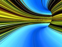 Abstract striped 3d the image Royalty Free Stock Image