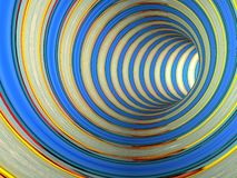 Abstract striped 3d the image Royalty Free Stock Photography