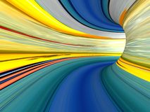 Abstract striped 3d the image Royalty Free Stock Images