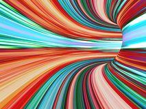 Abstract striped 3d the image Stock Images
