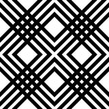 Abstract striped geometric pattern with lines and grids. Seamless monochromatic background in white and black spectrum stock illustration