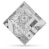 Abstract striped geometric tribal pattern royalty free illustration