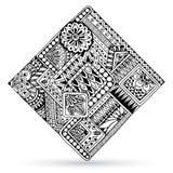 Abstract striped geometric tribal pattern Stock Photo