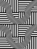 Abstract Striped Geometric Vector Seamless Pattern Royalty Free Stock Images