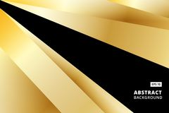 Abstract striped graphic gold and black color background vector Royalty Free Stock Photos
