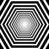 Abstract striped hexagonal optical illusion. Abstract striped warped hexagonal optical illusion royalty free illustration