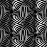 Abstract striped hexagonal optical illusion Stock Photography
