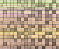 Striped mosaic backdrop in multiple rainbow colors Royalty Free Stock Photo