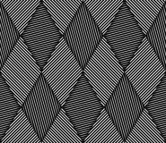 Abstract Striped Rhombuses Geometric Vector Seamless Pattern Stock Photo
