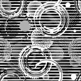 Abstract striped seamless pattern . Creative vector background with geometric figures. Modern, grunge , Black and white. Wallpaper for textile and fabric stock illustration