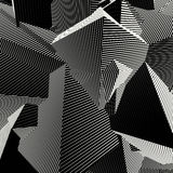 Abstract striped shape background in black and white Royalty Free Stock Photos