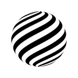 Abstract striped spheres. For your design. Vector illustration Stock Photo