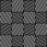 Abstract Striped Squares Geometric Vector Seamless Pattern Royalty Free Stock Photo