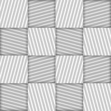 Abstract Striped Squares Geometric Vector Seamless Pattern Stock Images