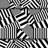 Abstract striped textured geometric seamless patter Stock Images