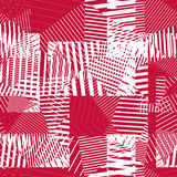 Abstract striped textured geometric seamless pattern. Vector red Stock Photos