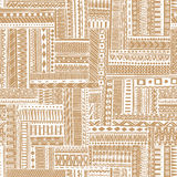 Abstract striped textured geometric tribal stock illustration