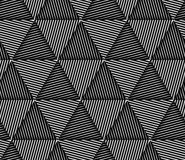 Abstract Striped Triangles Geometric Vector Seamless Pattern Royalty Free Stock Photography