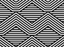 Abstract Striped Vector Seamless Pattern Royalty Free Stock Photo