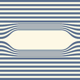 Abstract striped wallpaper frame. Vector Royalty Free Stock Photography