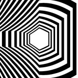 Abstract striped warped optical illusion Stock Images