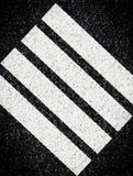 Abstract stripes on asphalt Stock Photos