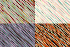 Abstract Stripes Background Set. Royalty Free Stock Photography