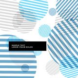 Abstract stripes circles background with blue theme. Vector vector illustration