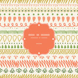 Abstract Stripes Frame Seamless Pattern Background Stock Image