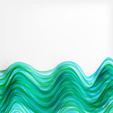 Abstract  stripes glowing background. Ocean waves Stock Photos