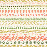 Abstract Stripes Horizontal Seamless Pattern Stock Photo