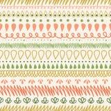 Abstract Stripes Horizontal Seamless Pattern Stock Photo