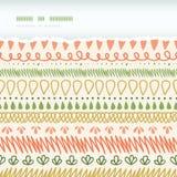 Abstract Stripes Horizontal Torn Seamless Pattern Stock Photo