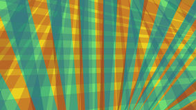 Abstract stripes and lines pattern in orange red gold and teal blue Royalty Free Stock Photography