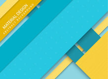 Abstract stripped background - material design style. Blue and yellow version Stock Photo