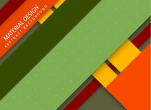 Abstract stripped background - material design style. Green, yellow and red version royalty free illustration