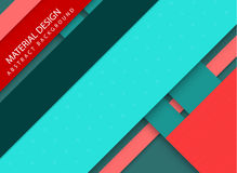 Abstract stripped background - material design style. Red and teal version Royalty Free Stock Images