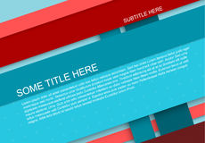 Abstract stripped material background. Abstract stripped background - material design style - blue and red version vector illustration