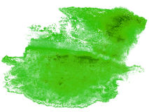 Abstract stroke ink watercolor brush water color splash paint wa. Tercolour green background Royalty Free Stock Image