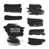 Abstract strokes of black ink Stock Photography