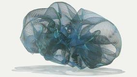 Abstract stromend voorwerp in blauwe kleur vector illustratie