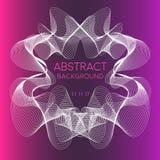 Abstract stromend wit kader op roze en purple Stock Illustratie