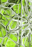 Abstract structure. Pattern 3D modeled and rendered. Made and designed from scratch Royalty Free Stock Photos