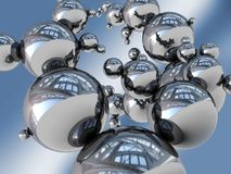 Abstract structure. Abstract 3d illustration of steel balls structure vector illustration